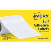 AVERY Typewriter Address Label Rolls AL03 White 102 x 49 mm 1 Roll of 190 Labels