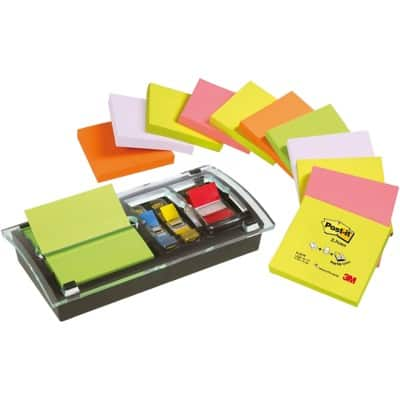Post-it Z-Note Dispenser Ds100VP Assorted Plain 76 x 76 mm 70gsm 100 Sheets