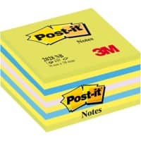 Post-it Sticky Notes Cube 76 x 76 mm Assorted 450 Sheets