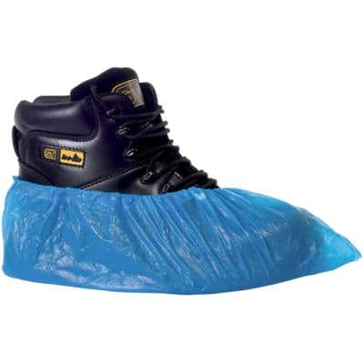 Supertouch Shoe Protecters Polythene Size 16 Inches Blue Pack of 100
