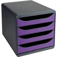 Exacompta Drawer Unit Big-Box Polystyrene Black, Purple 27.8 x 34.7 x 26.7 cm