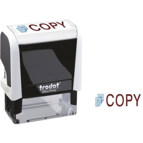 Trodat Printy 4912 Self Inking Worded Stamp Blue, Red