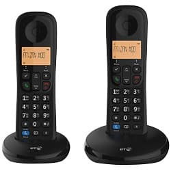 BT Telephone Everyday Twin Black