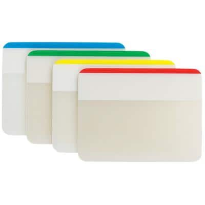 Post-it Index Flags 686 Assorted Plain 51 x 38 mm 6 Strips Pack of 4