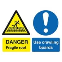 Warning Sign Fragile Roof PVC 40 x 30 cm