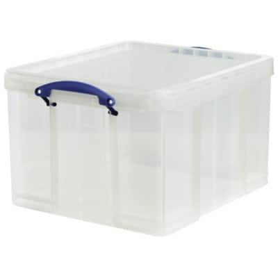 Really Useful Boxes Storage Box Medium 42 L Transparent Plastic 31 x 44 x 52 cm