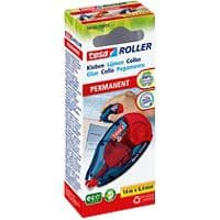 tesa Refillable Glue Roller ecoLogo 8.4mm x 14m Blue & Red Permanent