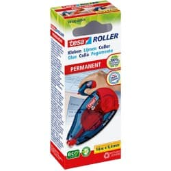 tesa Glue Roller Permanent Blue, Red 14 m
