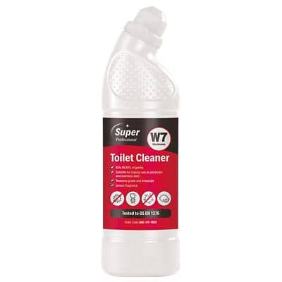 Super Professional Products W7 Toilet Cleaner Lemon 750ml