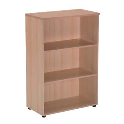 Realspace Bookcase with 2 Shelves 800 x 350 x 1200 mm Beech