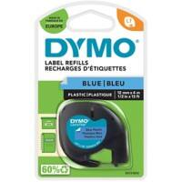 Dymo Letratag Label Plastic Blue 12 mm x 4 m