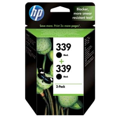 HP 339 Original Ink Cartridge C9504EE Black 2 Pieces