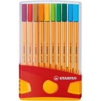 Stabilo Point 88 ColorParade Fineliner Pens - Assorted - Pack 20