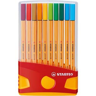 Stabilo Point 88 ColorParade Fineliner Fine 0.4 mm Assorted Pack of 20
