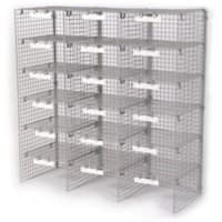 Val-U-Mail Letter Sorting Unit with 18 Compartments Silver 1067 x 381 x 1067 mm