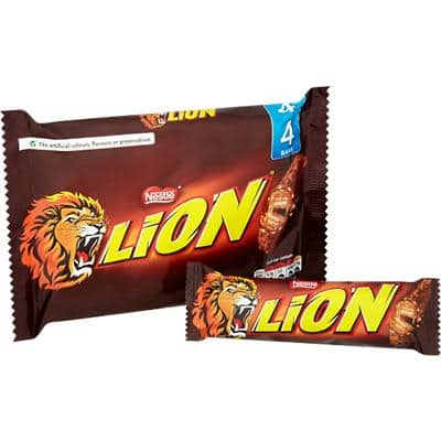 Nestlé Lion Milk Chocolate Bar No Artificial Colours, Flavours or Preservatives 42g 4 Pieces