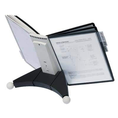 DURABLE Desk Display Sherpa 5632 Black A4 20 Sheets Plastic 29 x 49 x 33 cm