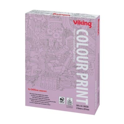 Viking Colour Print Paper A4 90gsm White 500 Sheets