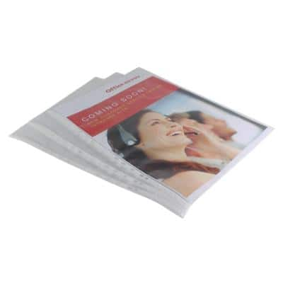 Office Depot Punched Pockets A3 Portrait Embossed 110 Micron Pack of 10