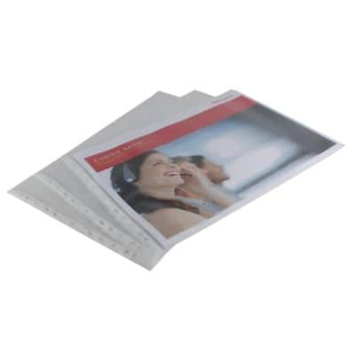 Office Depot Punched Pockets A3 Landscape Polypropylene Perforated 110 Micron Transparent