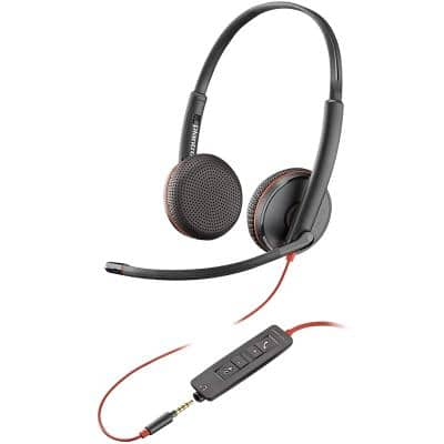 Plantronics Blackwire C3225 Wired Headset Black