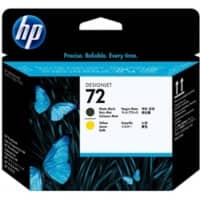 HP 72 Original Printhead C9384A Matte Black, Yellow