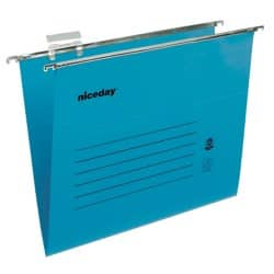 Niceday coloured suspension files blue foolscap - pack of 50