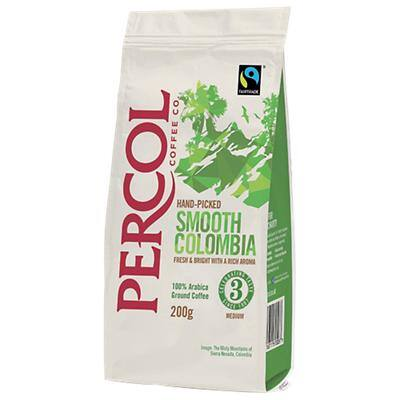 Percol Hand Picked Smooth Colombia Ground Coffee Bag 200g