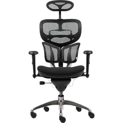 Realspace Synchro Tilt Ergonomic Office Chair with 2D Armrest and Adjustable Seat Mesh Galaxy Black