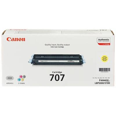 Canon 707Y Original Toner Cartridge Yellow
