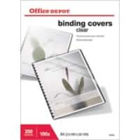 Office Depot Binding Covers A4 PVC 200 Microns Transparent Pack of 100