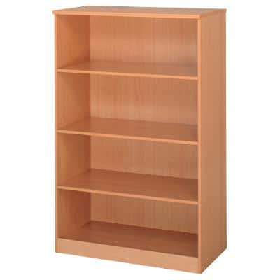 Dams International Bookcase with 3 Shelves Deluxe 1020 x 550 x 1600 mm Beech