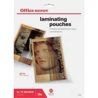Office Depot Laminating Pouches Glossy 2 x 75 (150 Micron) A4 25 Pieces