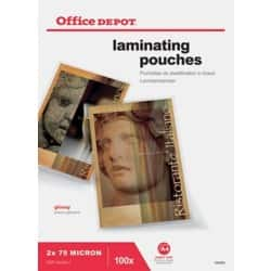 Office Depot Laminating Pouches glossy 150 micron A4 100 pieces