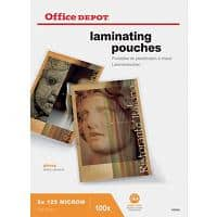 Office Depot Laminating Pouches Glossy 2 x 125 (250 Micron) A4 100 Pieces