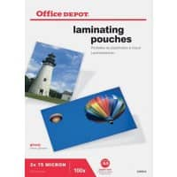Office Depot Laminating Pouches Glossy 150 Microns A5 100 Pieces