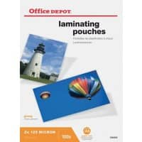 Office Depot Laminating Pouches Glossy 2 x 125 (250 Micron) A5 100 Pieces