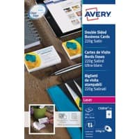 Avery C32016-25 Business Cards 85 x 54 mm 220gsm White 250 Pieces