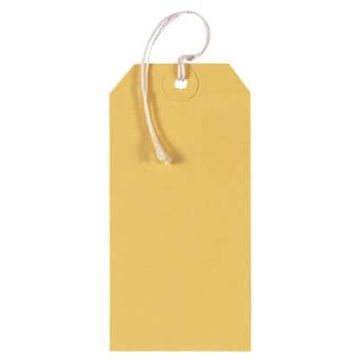 Tags Yellow 6 x 12 cm Pack of 250