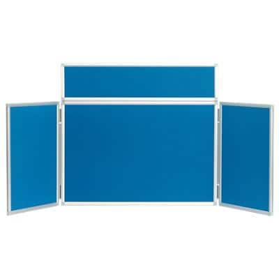 Freestanding Tabletop Display Stand Nyloop Fabric Lightweight 923 x 223mm Blue