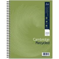 OXFORD Npad A4 Wirebound Black Hardback Notebook Ruled 200 Pages Green
