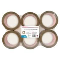 Office Depot industrial Low Noise Packaging Tape 48 mm x 66 m Brown Pack of 6