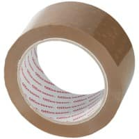 Office Depot PVC Packaging Tape Low Noise 50mm x 66m Brown 6 Rolls