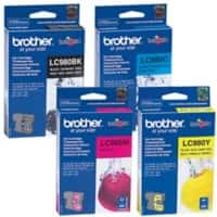 Brother LC1100 Original Ink Cartridge Black & 3 Colours Pack of 4