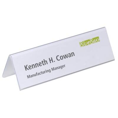 DURABLE Place Name Holders Transparent 25 Pieces