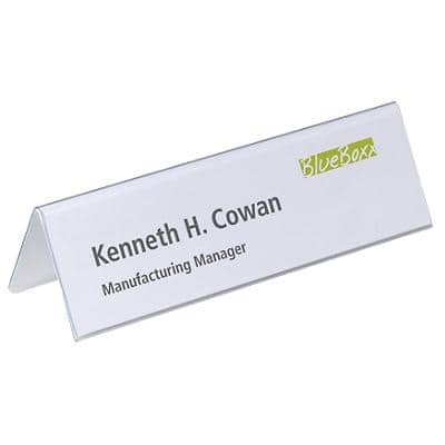 DURABLE Place Name Holders DB81055 Transparent 25 Pieces