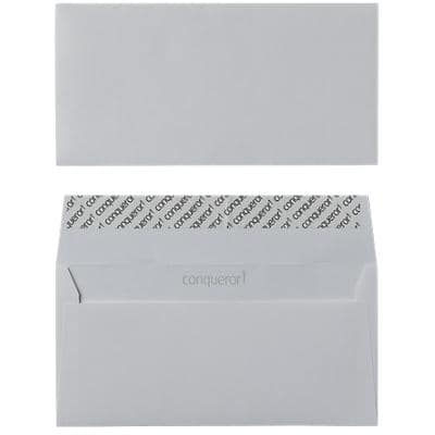 Conqueror DL Envelopes 220 x 110 mm Peel and Seal Plain 120gsm High White Pack of 500