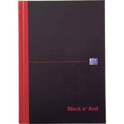 OXFORD Black n' Red Notebook Ruled A5 96 Sheets