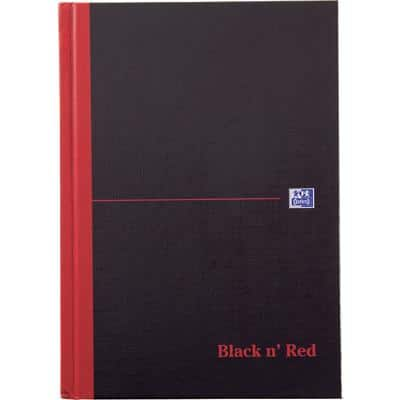 OXFORD Black n' Red A5 Casebound Hardback Notebook Ruled 192 Pages