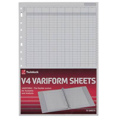 Twinlock Refill Sheets 75934 A4 21 x 29.7 cm White 75 Sheets